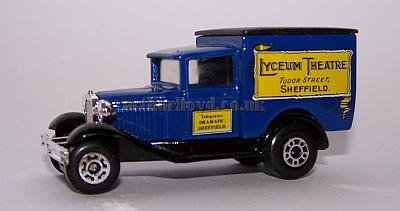 A Matchbox Model Van with a Lyceum Theatre, Sheffield banner.