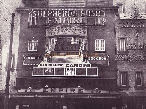 Photograph of the Shepherds Bush Empire in its heyday with Max Miller on the Bill. - Courtesy Peter Charlton