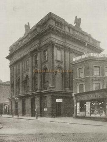 The 1875 Grecian Theatre, Shoreditch in a photograph printed in 'The Sketch' December 21st, 1898.