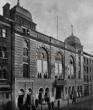 Royal Cambridge Theatre - From 'The Architect' January 20th 1899.
