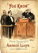Arthur Lloyd's 1887 song 'You Know' - Click to Enlarge