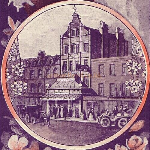 An image of the South London Palace - From an early programme - Courtesy Peter Charlton