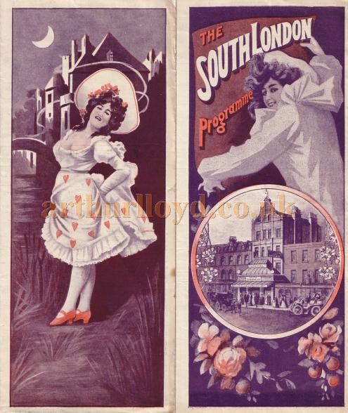 An early programme for the South London - Courtesy Peter Charlton