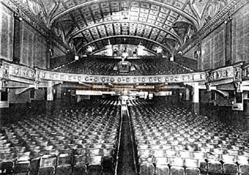 The auditorium of the Scala, Ocean Road, South Shields after the circle had been added to the original concert hall - Courtesy John West.