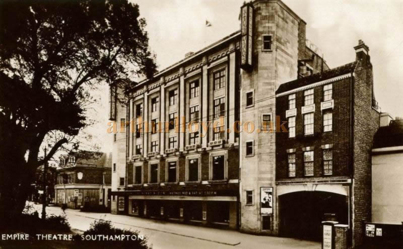 A 1930s Postcard showing the Empire Theatre, Southampton, now the Mayflower Theatre.