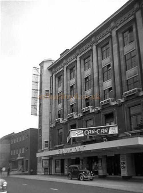 The Gaumont Theatre, Southampton, now the Mayflower Theatre, during the run of 'Can Can' on the 23rd of July 1956 - Courtesy Gerry Atkins