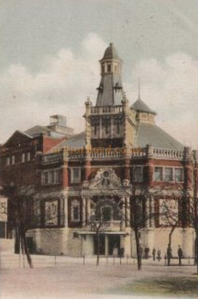 An early colour postcard depicting the Grand Theatre, Southampton.