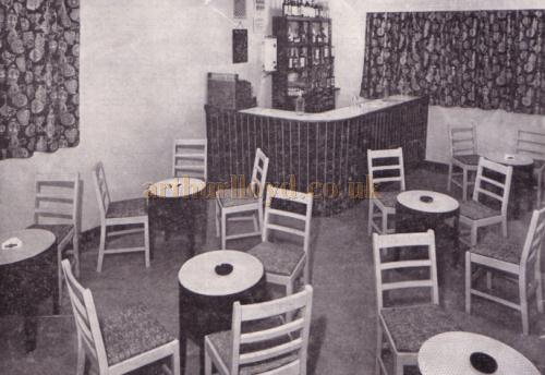The first floor Theatre Lounge and Bar - in 1959 - Kindly donated by Jan Davies.