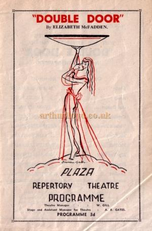 A programme for the Plaza Repertory Company's production of 'Double Door' at the Plaza Theatre, Southend for the week of Monday 31st of May 1948 - Kindly Donated by Jan Davies.