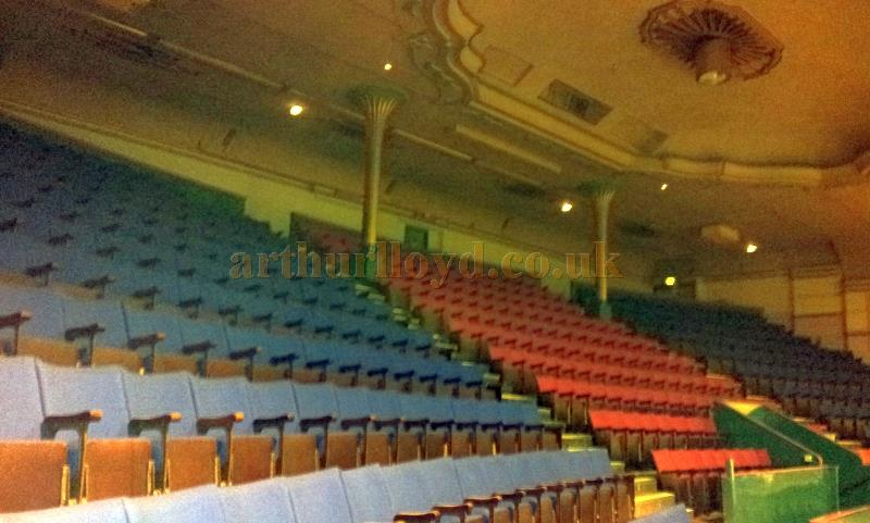 The rear circle of the auditorium of the Garrick Theatre, Southport whilst the Theatre was in Bingo use in October 2013 - Courtesy George Richmond.