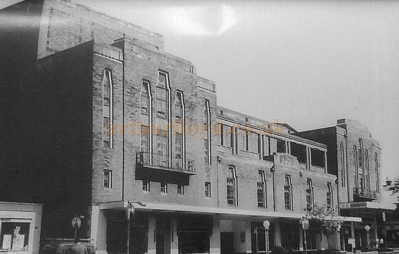 The Stage House and main elevation of the Garrick Theatre, Southport whilst in Bingo use - Courtesy the Crosby Archive.