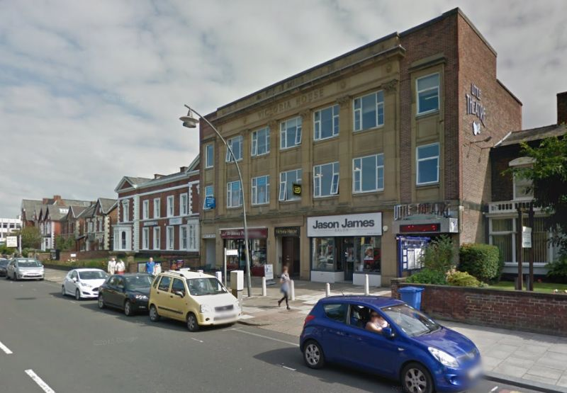 A Google StreetView Image of Victoria House and the Little Theatre, Southport - Click to Interact