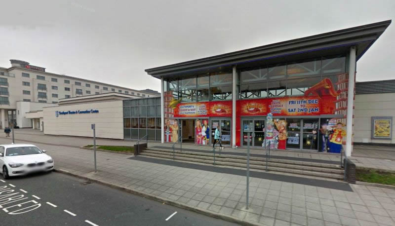 A Google StreetView Image of the Southport Theatre and Conference Centre - Click to Interact
