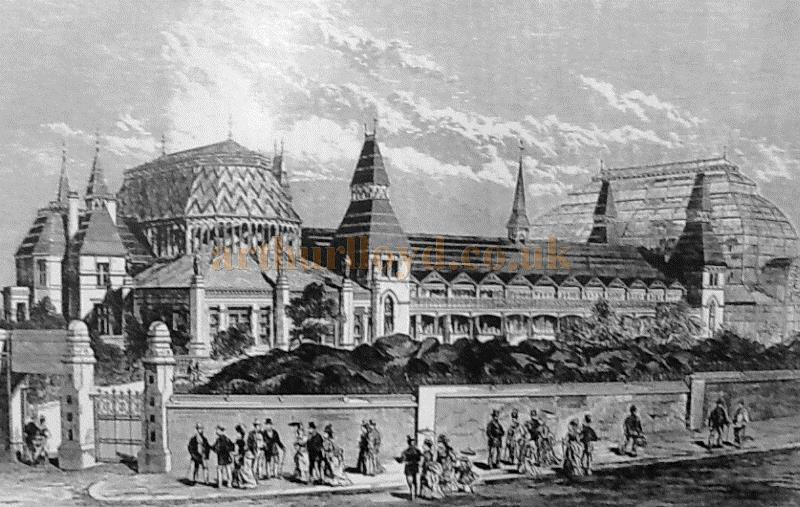 The Southport WinterGardens Seafront Elevation in 1874 - Courtesy The Crosby Archive