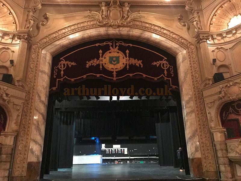 The Auditorium and Stage of the King's Theatre, Southsea in April 2017 - Courtesy Michael Shaw.