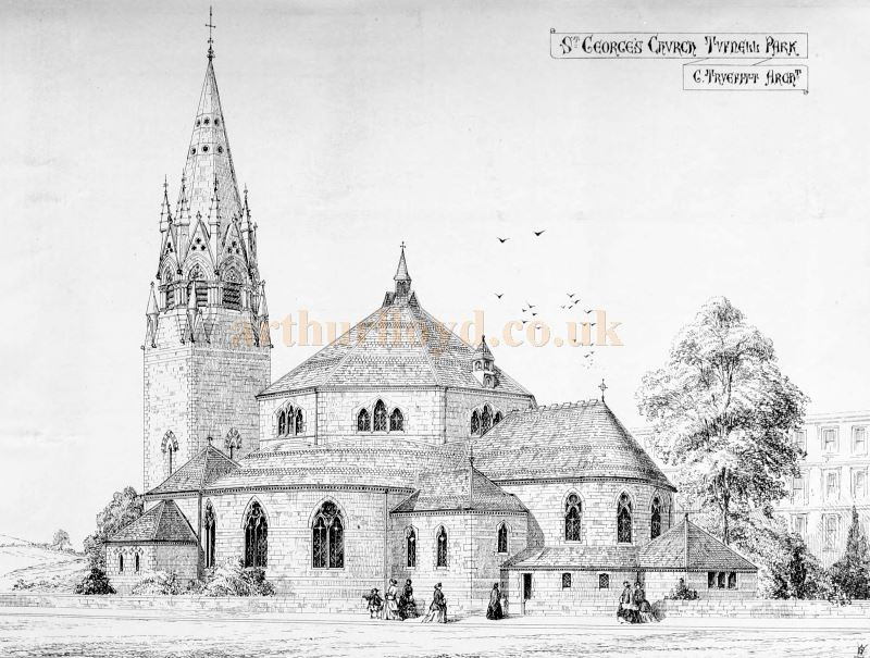 A Sketch of St. George's Church, Tufnell Park by its Architect George Truefitt - From The Building News and Engineering Journal of 1867.