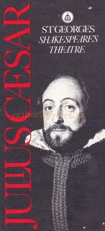 A programme for the St. Georges Theatre production of 'Julius Ceaser'.