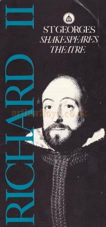 A programme for the St. Georges Theatre production of 'Richard II' .