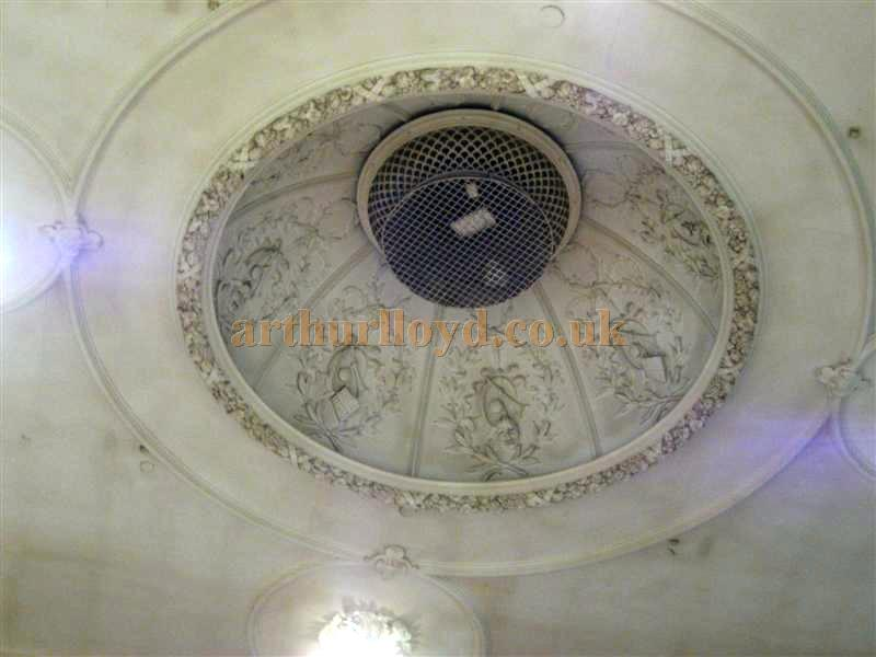 The still extant 1903 domed ceiling of the St. Helens Hippodrome during Bingo use in March 2010 - Courtesy K.R.