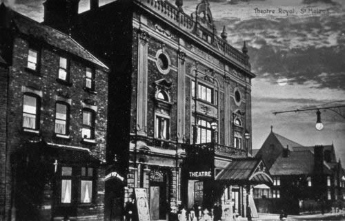 A postcard showing how the Theatre Royal, St. Helens looked before its 1964 reconstruction.