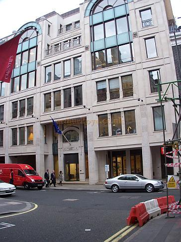 The second St. James's House in September 2008, this was built on the site of the first St. James's House and the former St. James's Theatre in the 1980s. In 2012 this building is itself currently being replaced by yet another.