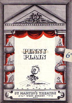 Programme for 'Penny Plain' with Joyce Grenfell, Elisabeth Welch, and Max Adrian at the St. Martin's Theatre in 1951.