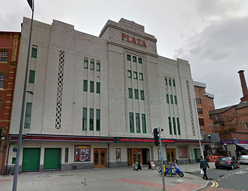 A Google StreetView Image of the Plaza Theatre, Stockport - Click to Interact