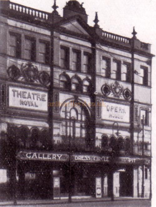 The Theatre Royal, Stockport in a photograph taken in 1938 - From the Theatre's Jubilee Programme, June 6th, 1938.