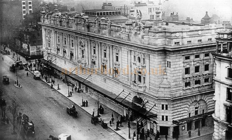 A Postcard of the London Opera House, Kingsway, from above.