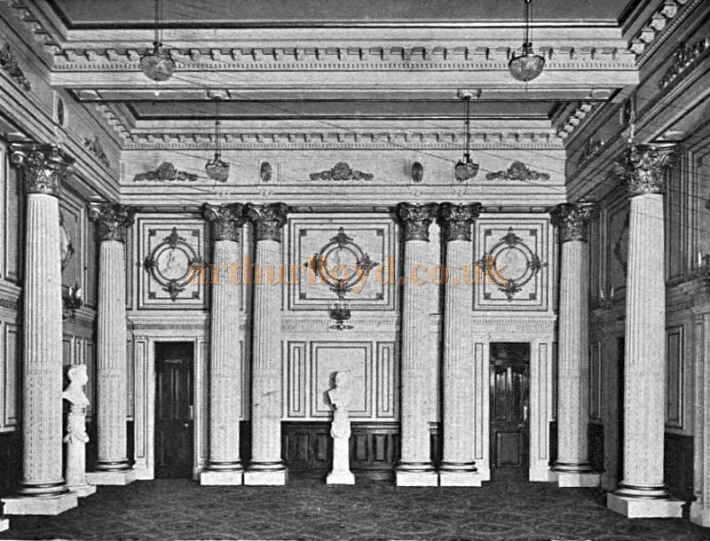The Lounge Hall of the London Opera House - From the Academy Architecture and Architectural review of 1912.