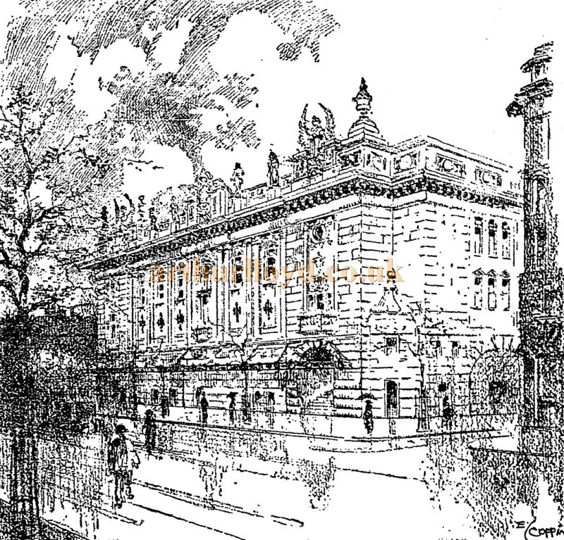 A Sketch of the London Opera House - From the Stage Newspaper November 2nd 1911
