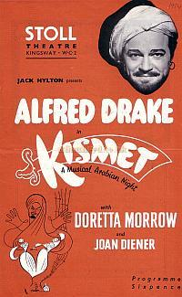 Programme for Kismet at the Stoll Theatre