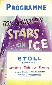 Programme for Stars on Ice at the Stoll Theatre 1947