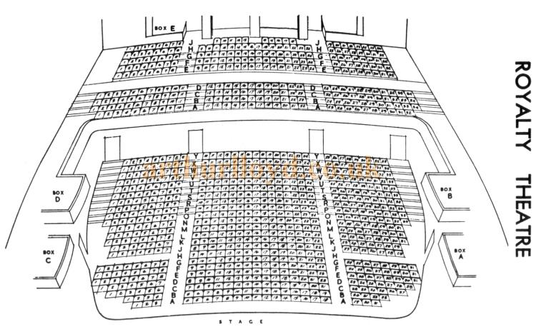 A Seating Plan for the Royalty Theatre, Kingsway