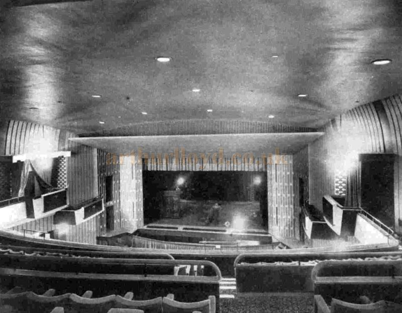 The Auditorium and Stage of the Royalty Theatre on its opening in June 1960 - From the ILN, 25th June 1960.