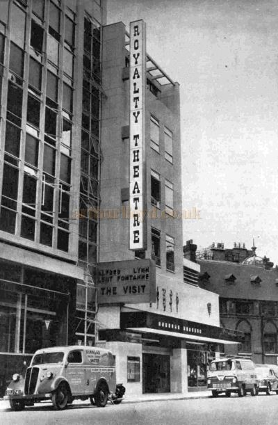 The Royalty Theatre on its opening in June 1960 with a production of 'The Visit' - From the ILN, 25th June 1960.