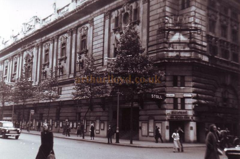 The Stoll Theatre in 1958, shortly before its demolition - Courtesy Gerry Atkins.