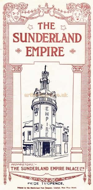 A programme for 'Mercenary Mary' at the Empire Theatre, Sunderland on Monday October 11th 1926.