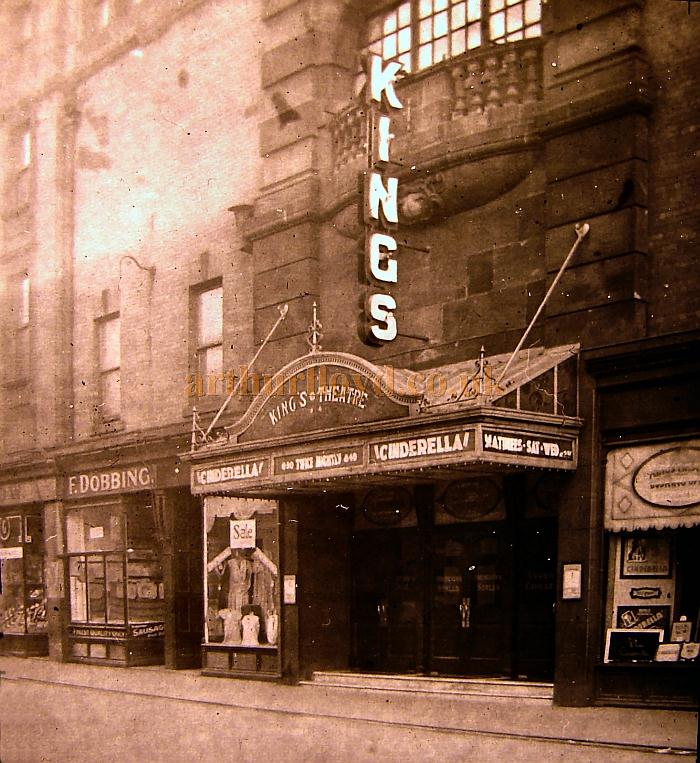 A lovely evocative photograph of the King's Theatre, Sunderland during a production of the Pantomime 'Cinderella' - Courtesy Steve Kilburn