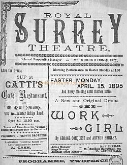 Royal Surrey Theatre Bill for April 15th 1895.