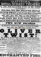 Surrey Theatre Blackfriars Road Playbill 1839 - From 'Charles Dickens and Southwark' (London borough of Southwark)