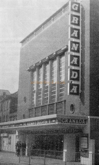 The Exterior of the Granada Sutton, formerly the Plaza - From the 21st Anniversary edition of the Cinema Organ Society Journal 1973