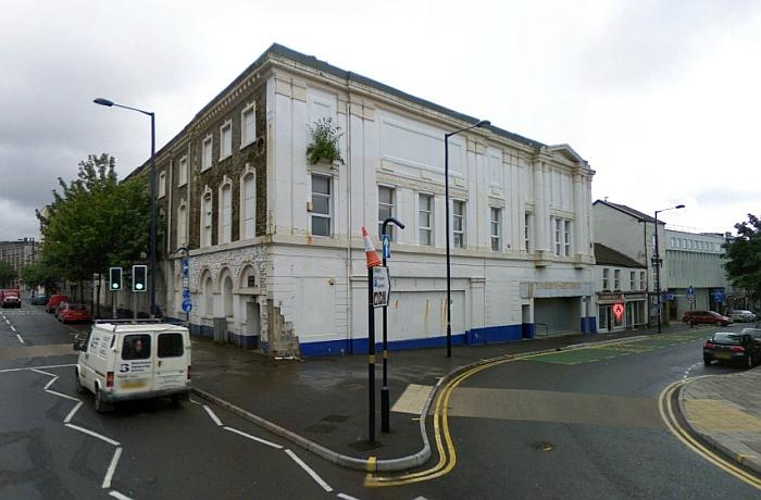 A Google Streetview Image of the former Albert Hall, Swansea - Click to Interact