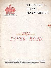 Programme for 'The Dover Road' at the Theatre Royal Haymarket in 1922.