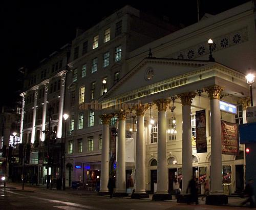 The Theatre Royal Haymarket during the run of 'Seven Brides For Seven Brothers' in October 2006 - Photo M.L.