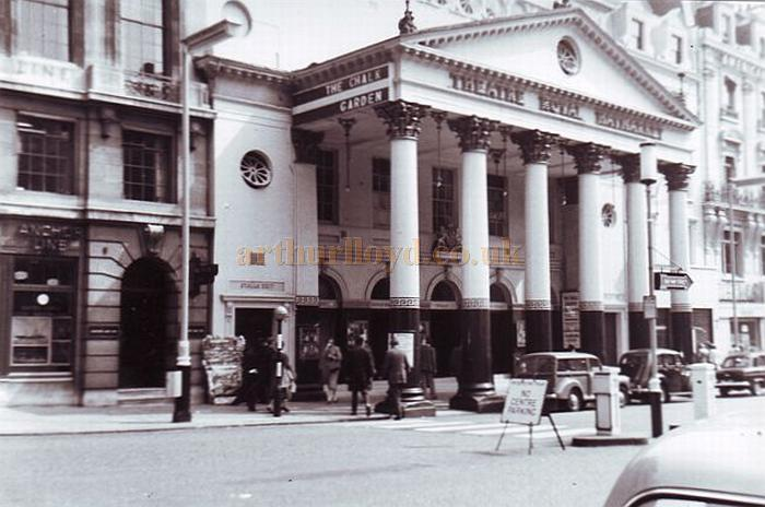 The Theatre Royal, Haymarket during the run of 'The Chalk Garden' in 1958 - Courtesy Gerry Atkins