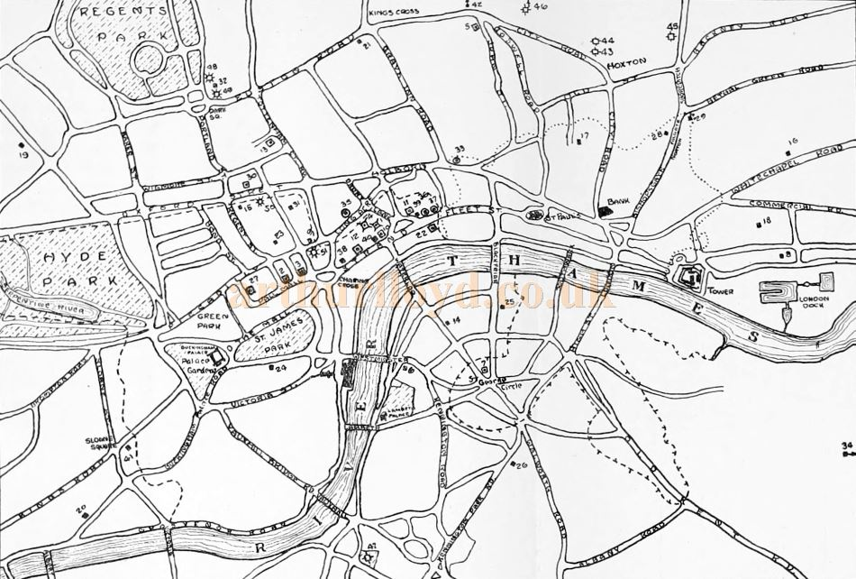 Map Of Uk 1800.London S West End Theatreland Maps