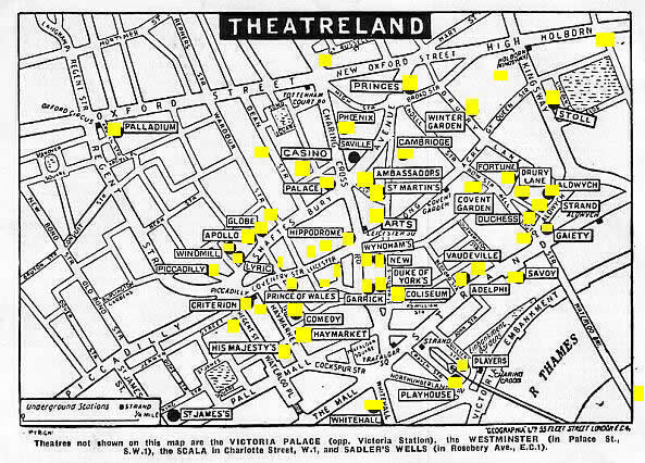 Map of London Theathres