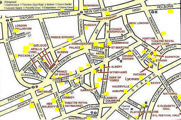 Map Of West End Of London.London S West End Theatreland Maps