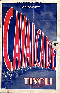 A Programme 'Cavalcade; at the Tivoli Cinema, Strand on May the 8th 1933.